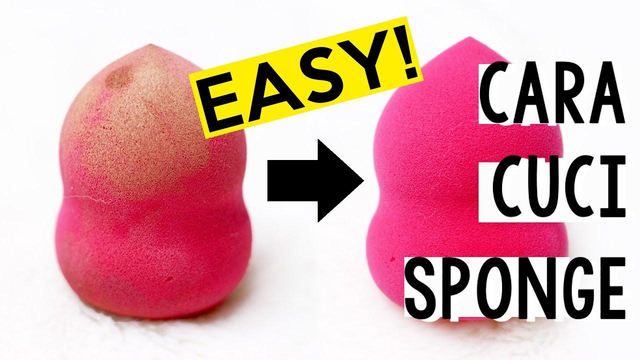 Cara Membersihkan Sponge Beauty Blender How To Clean Beauty Sponges Kiara Leswara Youtube