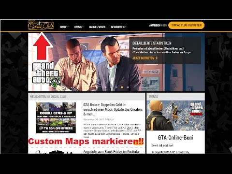 So markiert  man Custom Maps in GTA Online (Ps3+4,Xbox360+One,PC)