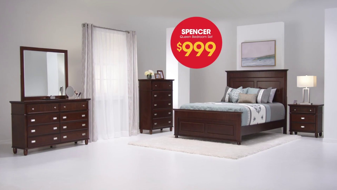 Spencer Queen Bedroom Sets are Only $999 at Bob\'s Discount Furniture ...