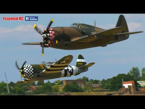 BIG MOKI 250cc RADIAL P-47 JUGS *AWESOME and GLORIOUS SOUND* LOW PASSES on a HOT SUNNY DAY