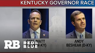 Gambar cover Democrat Andy Beshear and incumbent Republican Governor Matt Bevin face off in Kentucky