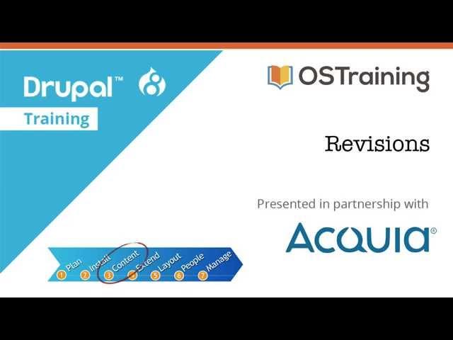Drupal 8 Beginner, Lesson 32: Revisions