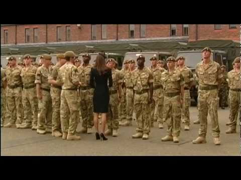 Irish Guards Receive Medals From Royal Couple 27.06.11
