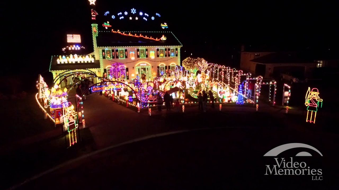Cleveland Ohio Videography   Aerial Views Of The Crown Point Parkway  Festival Of Lights