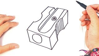 How to draw a Sharpener | Sharpener Easy Draw Tutorial