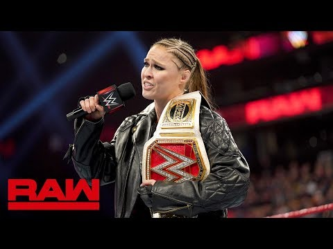 Rousey, Lynch and Flair comment on competing in WrestleMania's main event: Raw, Mar. 25, 2019
