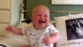 Baby laughing and chuckling
