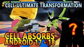 Cell absorbs n17  18 and transforms into ssgss  | ultimate cell ssgss part 1 | dbz tenkaichi 3 (mod)