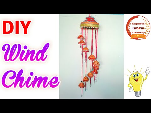 Diwali Special Crafts|How To Make Newspaper Wind Chime|Newspaper Wall Hanging|DIY Wall Decor Idea