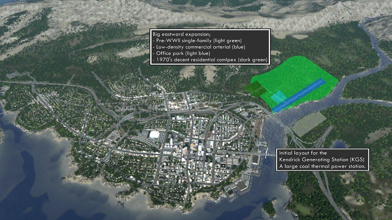 cities skylines building a realistic us city ep 11 big expansion coal power plant [ 1280 x 720 Pixel ]