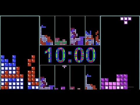 Tetris 10 Minutes Timer with Tetris Music Theme