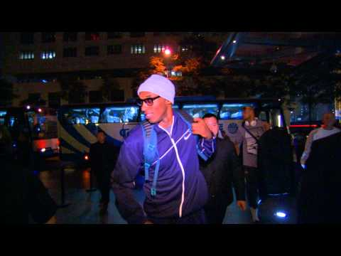 Lakers and Warriors Arrive in Beijing