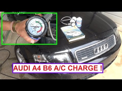 How to recharge the A/C System on AUDI A4...