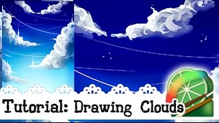 TUTORIAL: How to draw Clouds - Easy Paint Tool Sai