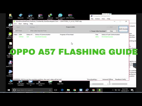 Oppo A57 CPH1701 Flashing & Frp Done by Msm Download Tool by