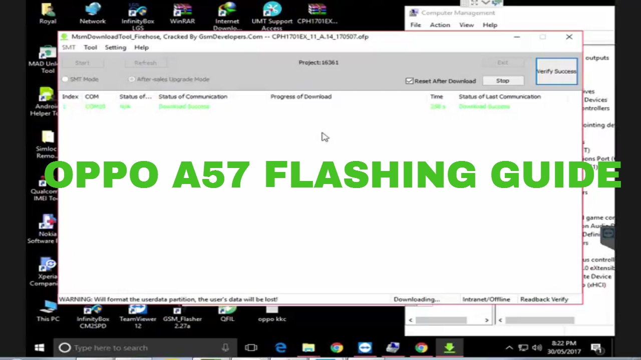 Oppo A57 CPH1701 Flashing by Msm Download Tool