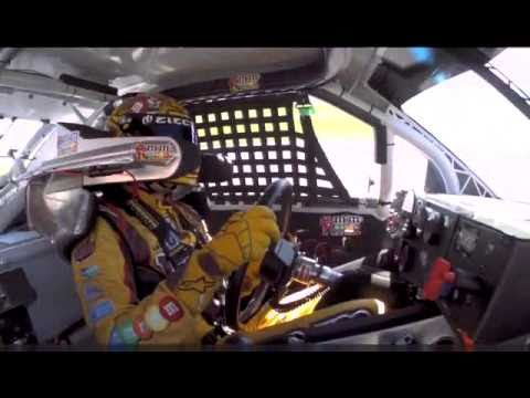 David Reutimann puts Kyle Busch in the wall