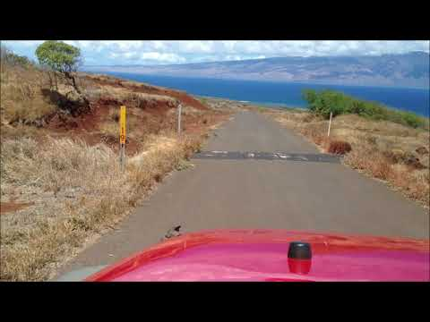 Lanai Hawaii - Driving to Shipwreck Beach 2014