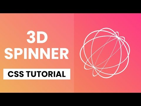 3D Spinner Animation CSS | CSS 3D Animation | CSS Tutorial thumbnail