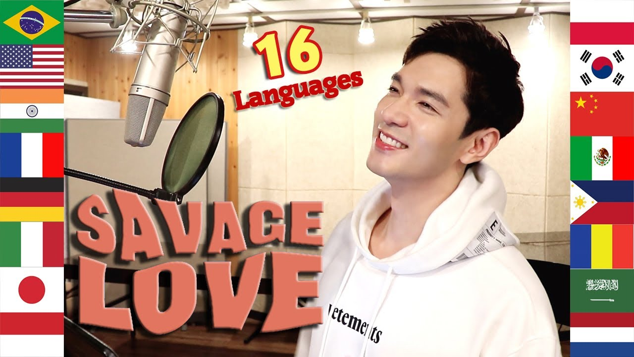 Savage Love (Multi-Language Cover) 1 Guy Singing in 16 Different Languages - Travys Kim