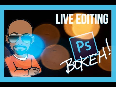 LIVE EDITING - How To Create BOKEH Effect In Photoshop