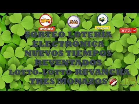 Sorteo N.Tiempos N°17716, Lotto y Lotto Revancha N°2009 y 3 Monazos N°170. 29-02-2020 JPS (Noche)