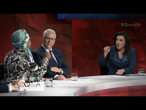 Sharia law debate creates fireworks on Q&A