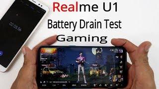 Realme U1 PUBG ke Sath Battery Drain Test !! 100% To 0% Battery Drain !! HINDI