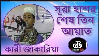 Quran Tilawat-Sura Hasorer ses 3 Ayat  অসাধারণ কোরআন তিলাওয়াত কারী শাহ্ জাকির