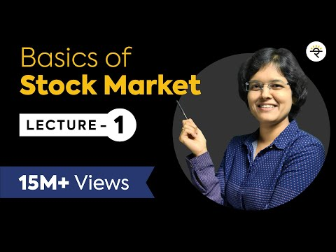 Basics of Stock Market For Beginners  Lecture 1 By CA Rachana Phadke Ranade