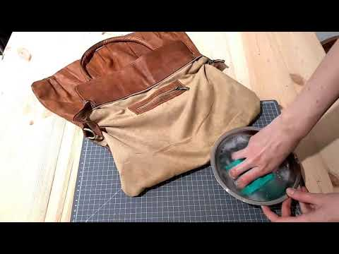 Check out this quick and easy tip for cleaning the inside of your leather bag!