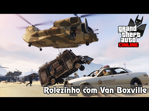 GTA V Online: ROLEZINHO INCRÍVEL COM A VAN BOXVILLE