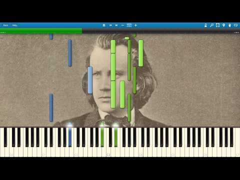 Brahms' Lullaby - Synthesia Piano Solo Tutorial