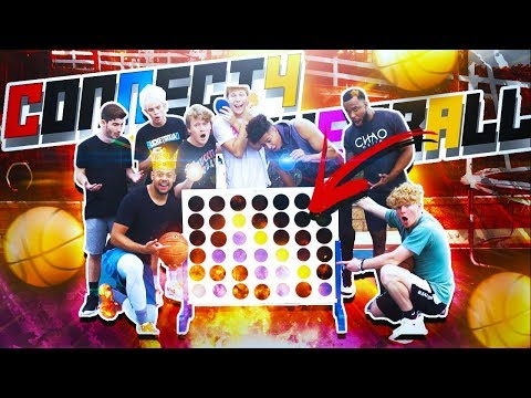CONNECT 4 Basketball Game!! 2HYPE IRL BASKETBALL
