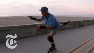 Repeat youtube video Slomo: The Man Who Skated Right Off the Grid | Op-Docs | The New York Times