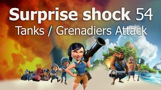 How to Attack Surprise Shock Level 54 | Boom Beach | Tanks