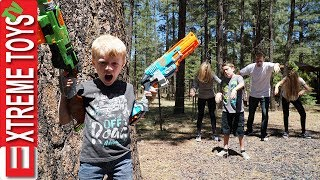 Nerf Attack! The Wild Infected Vs. Ethan and Cole Nerf Blaster Battle!