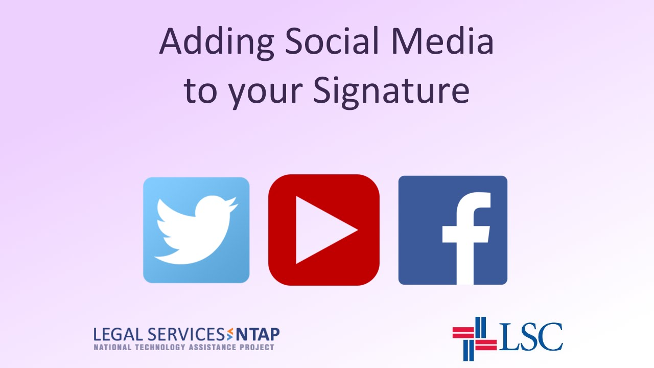 How To Add Social Media Icons To Your Email Signature In Outlook