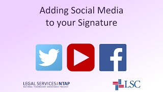 How To Add Social Media Icons to Your Email Signature in Outlook 2010