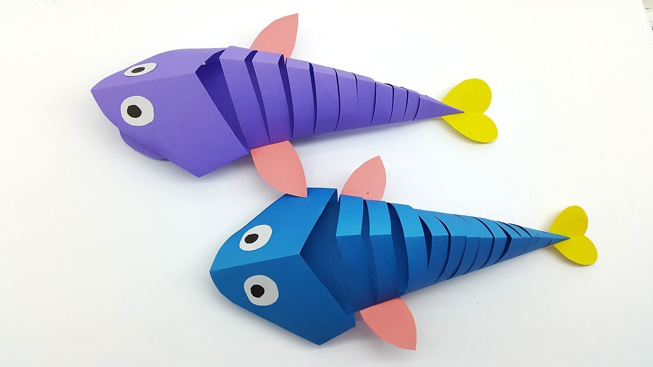 Paper Fish Making For Kids How Make A Paper Fish Easy Paper