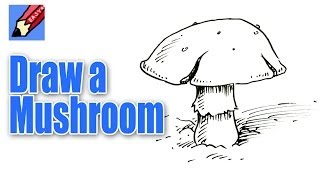 How to draw a Mushroom Real Easy