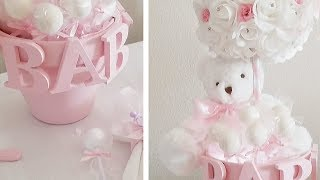 BABY SHOWER| LIGHT UP TEDDY BEAR CENTERPIECE DIY DECOR