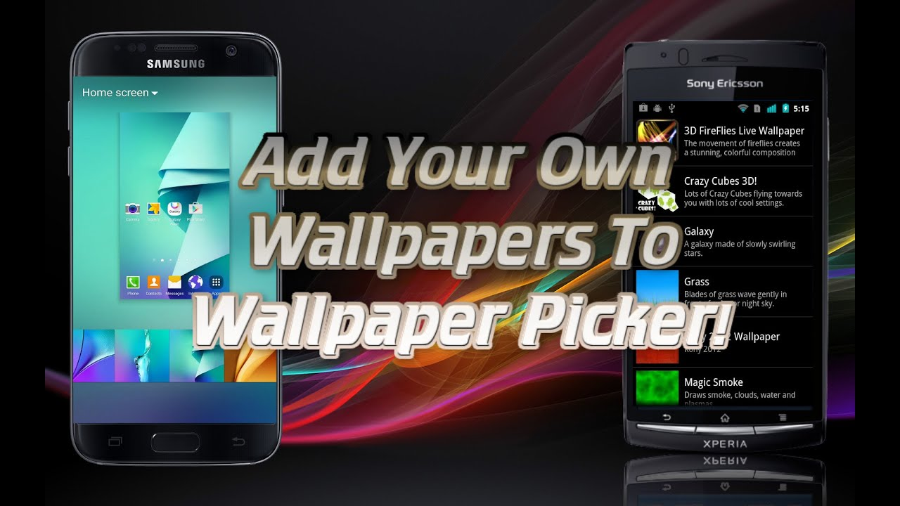 how to add your own wallpapers to your phone s wallpaper picker live wallpaper picker apk