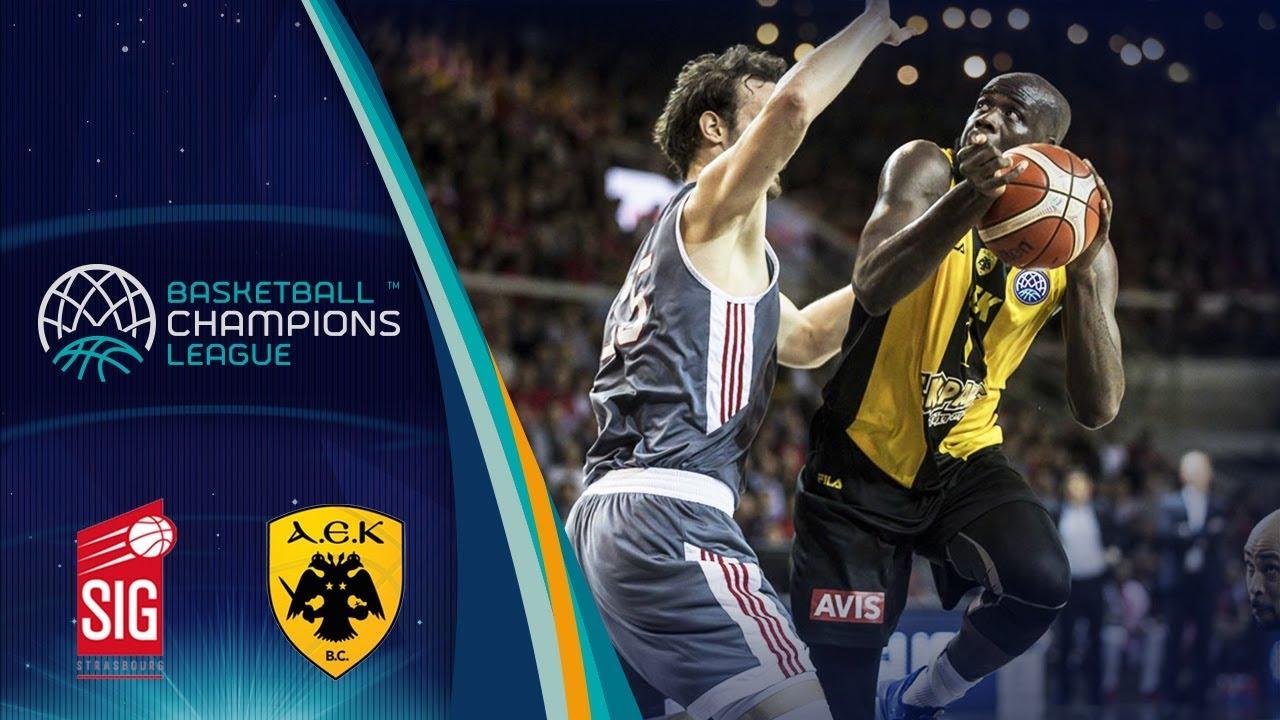 SIG Strasbourg v AEK - Highlights - Quarter-Finals - Basketball Champions League 2017