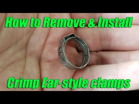 How to remove and install Oetiker ear-style crimp pinch cinch clamps