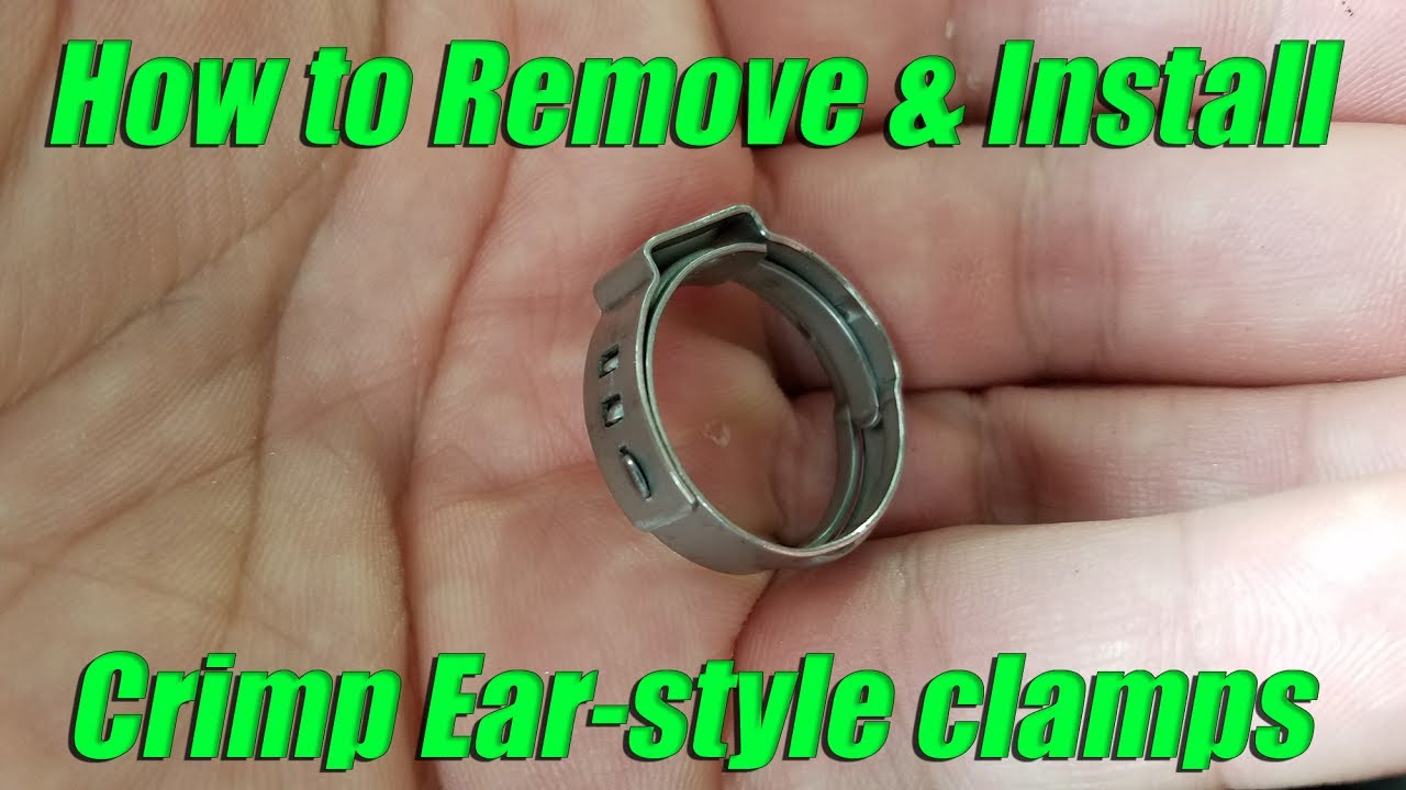 How to remove and install Oetiker ear-style crimp pinch cinch cl&s : hose clamp crimp - www.happyfamilyinstitute.com