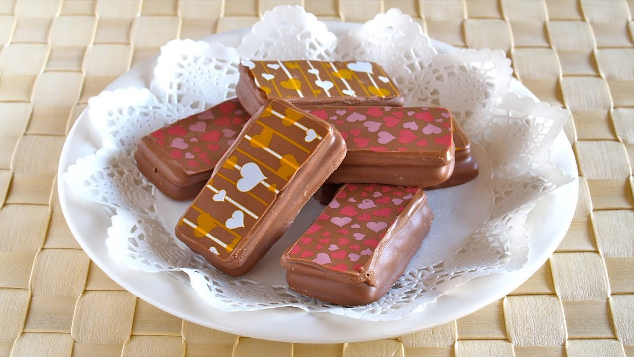 Printed Tim Tams Using Chocolate Transfer Sheets For Valentine S