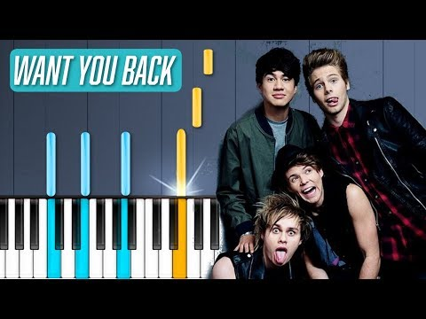 5 Seconds Of Summer  Want You Back Piano Tutorial  Chords  How To Play