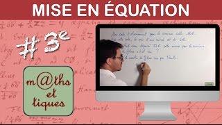 vuclip Mettre un problème en équation (1) - Troisième