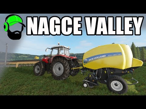 Farming Simulator 17 - Nagce Valley - Baling hay
